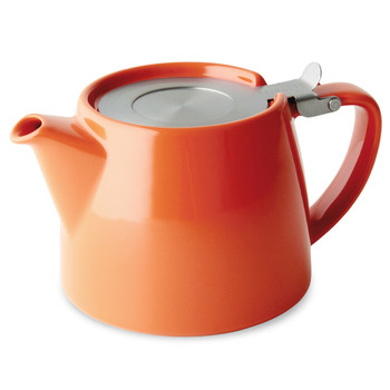 Orange Stump Teapot with Infuser (18 oz)