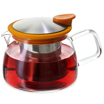 Orange Bell Glass Teapot with Infuser (14 oz)