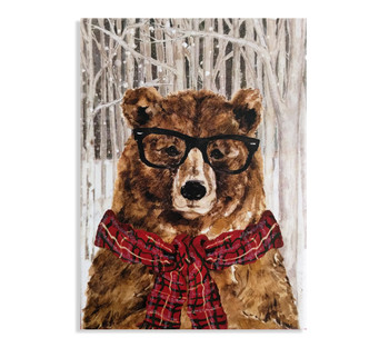 Holiday Card with Bear