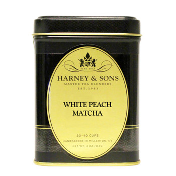 Harney & Sons White Peach Matcha Loose Tea 4oz