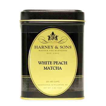 Harney & Sons White Peach Matcha Loose Tea 4oz