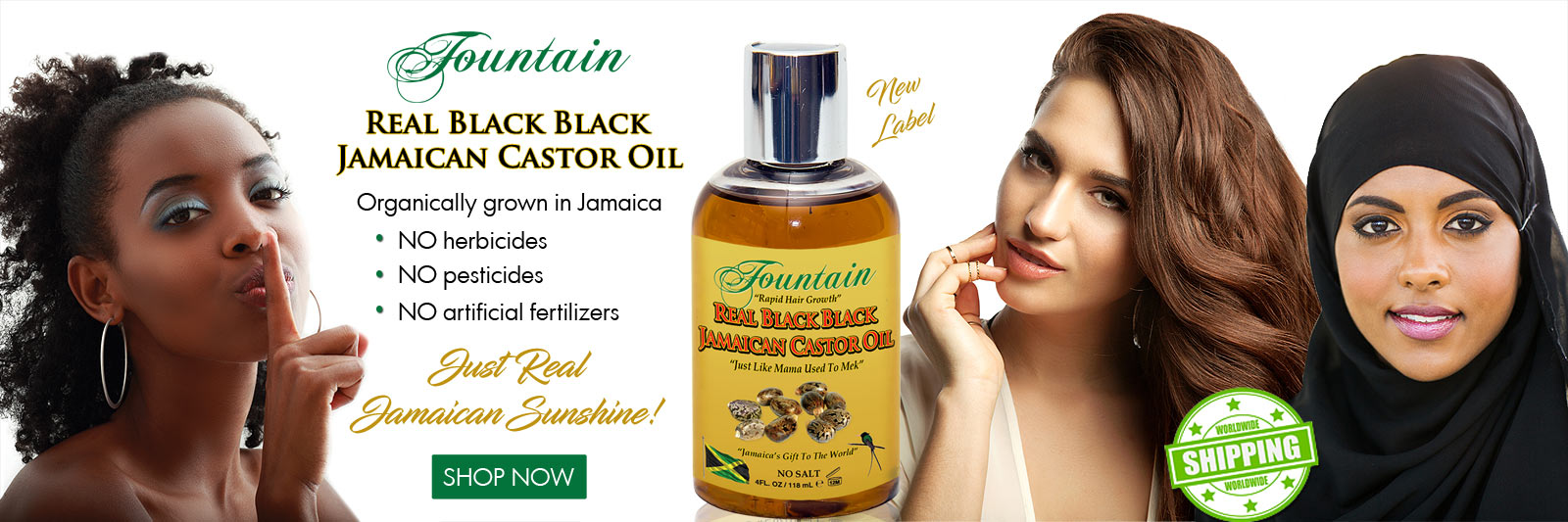 Real Black Black Jamaican Castor Oil
