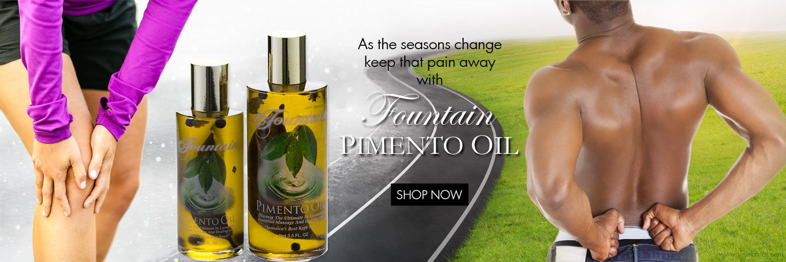 Fountain Pimento Oil for all your aches and pain