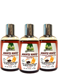 Fountain MIGHTY ROOTS with Jamaican Pimento Oil and Black Castor Oil 4 Oz 3-Pack