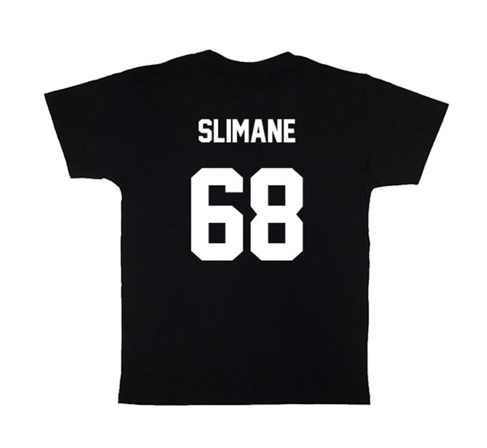 LES (ART)ISTS Black SLIMANE68 Football Tee