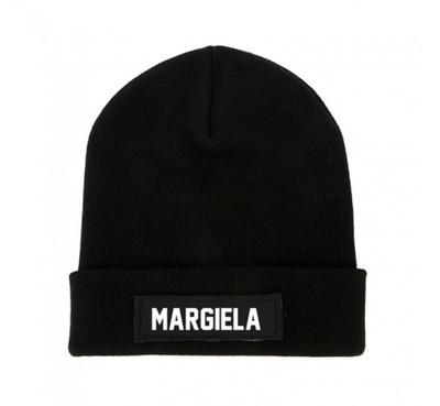 Black MARGIELA Beanie Patch