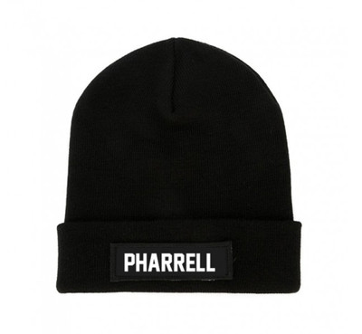 Black PHARRELL Beanie Patch