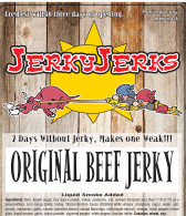 Thin Slices of Top Sirloin Steak prepared old school with a hint of pepper.  A True Original Jerky.