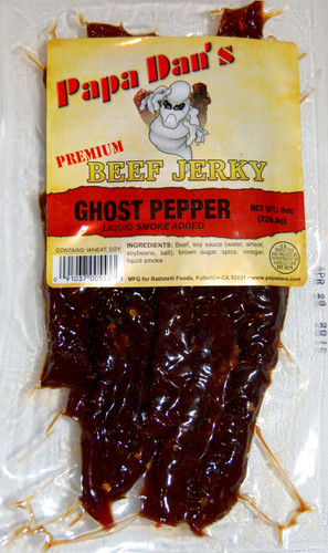 GHOST CHILI PEPPER ON OUR SWEETEST JERKY. Talk about Hot and Sweet!!!  What else can we say? HOT X4????