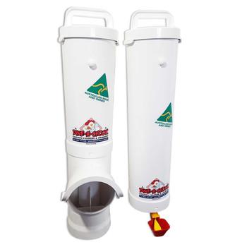 Waste Reducing Chicken Feeder and Feeder system by Dine A Chook.
