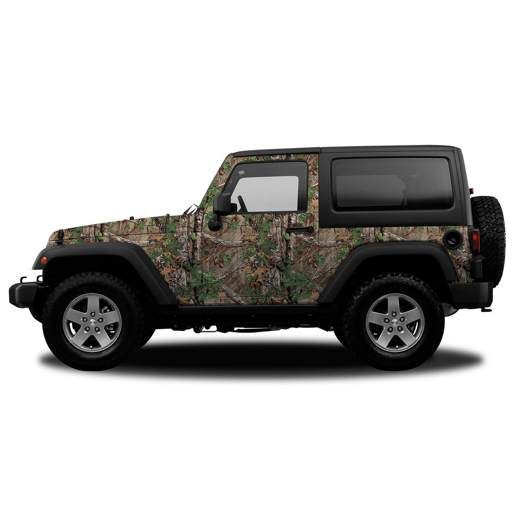 Realtree Camo Accent Jeep Vehicle Wrap Free Shipping