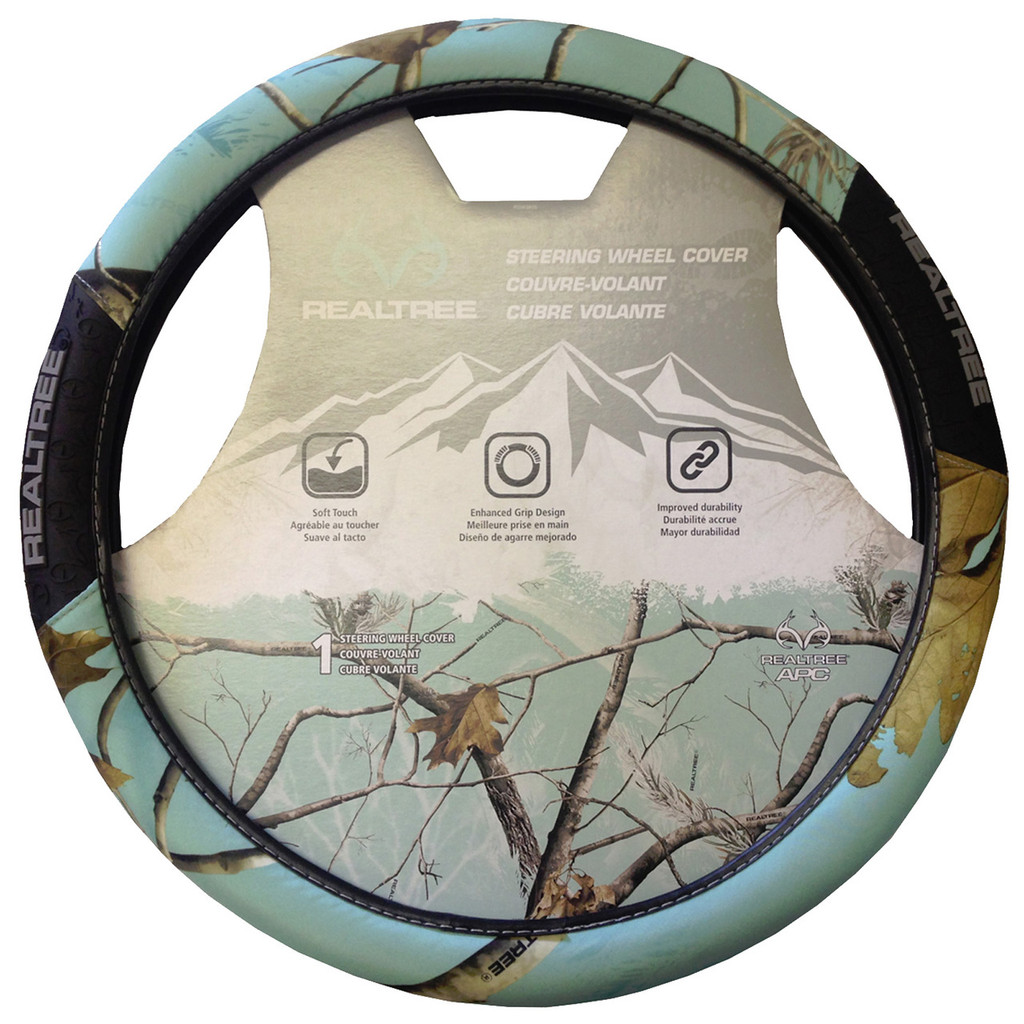 Realtree Mint 2 Grip Steering Wheel Cover Mint Steering