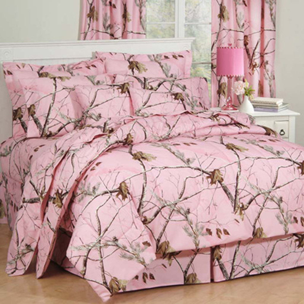 Pink camo bedding twin - Realtree Ap Pink Comforter Sets Image