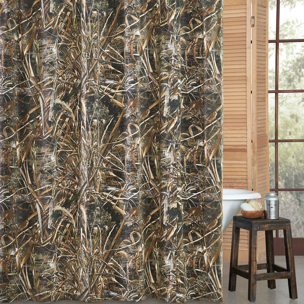 Birch tree shower curtains - Realtree Camo Shower Curtains Max 5