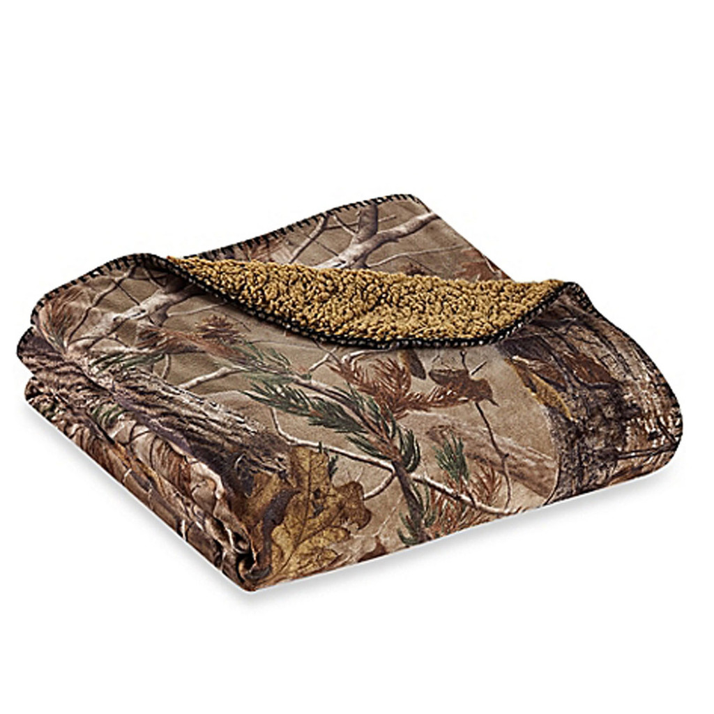 Realtree AP Throw Blanket Folded