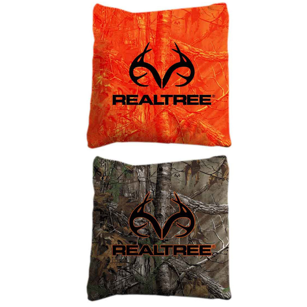 Realtree Antler Logo Stained Cornhole Boards Realtree