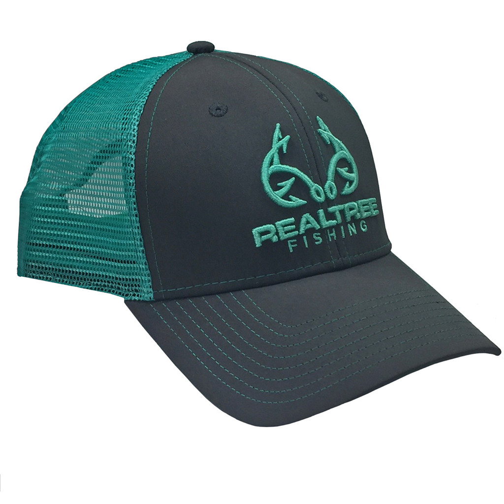 custom realtree mint fishing logo mesh back hat realtree