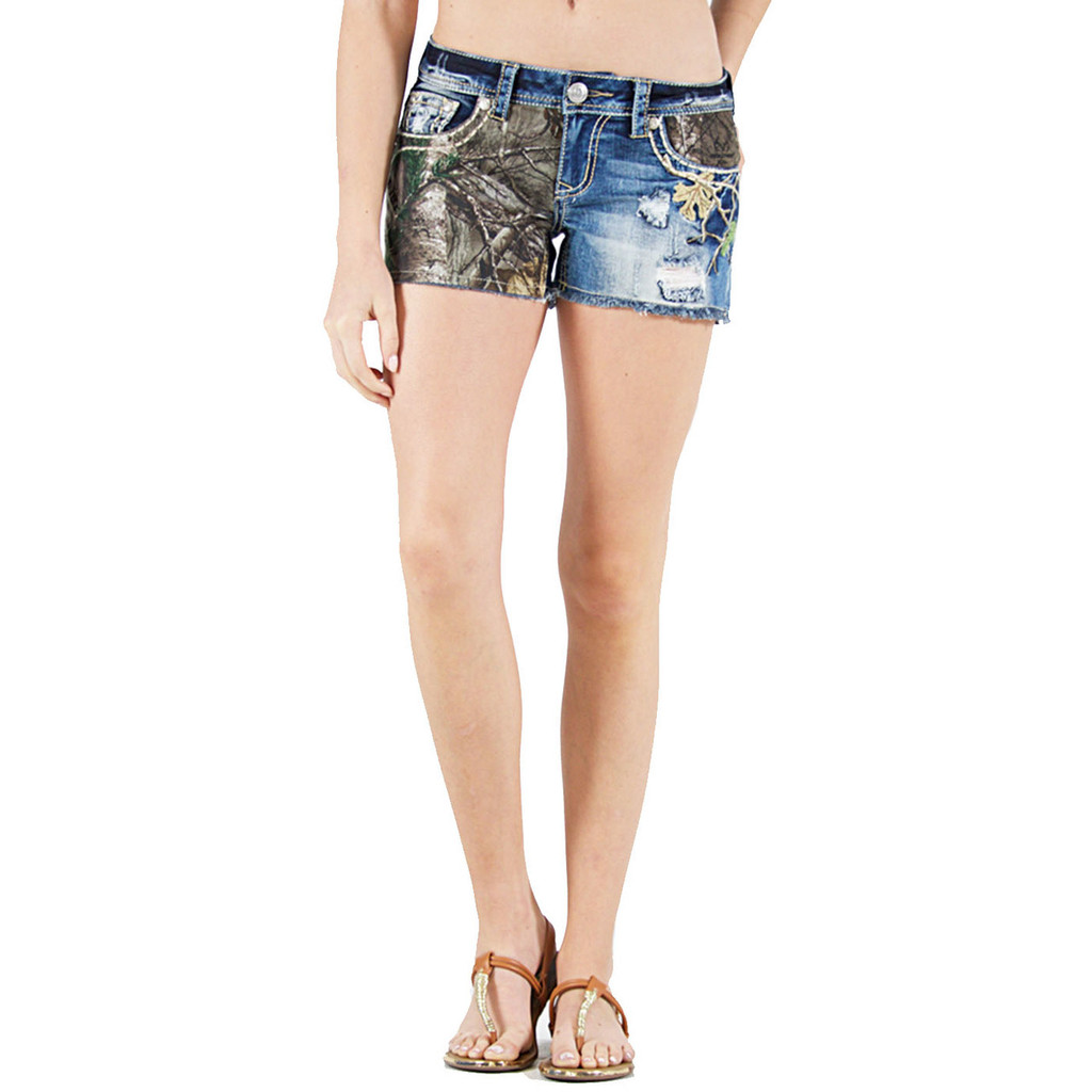 Realtree Women's Camo Denim Shorts - Camo Ladies Shorts | Realtree ...