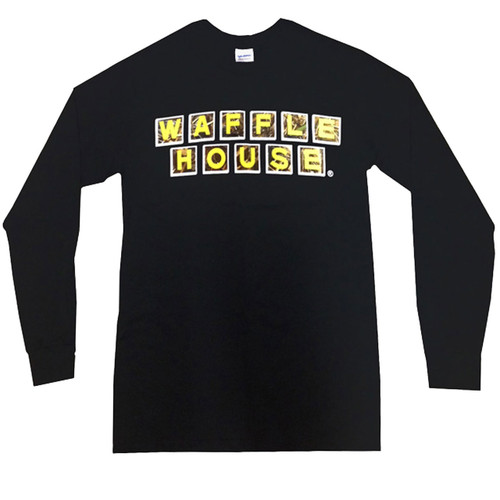 Waffle House Long Sleeve T-Shirt in Black
