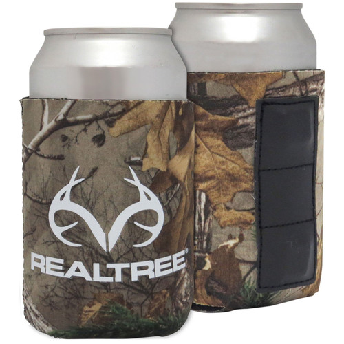 Realtree Magnetic Antler Logo Can Koozie in New Xtra Colors