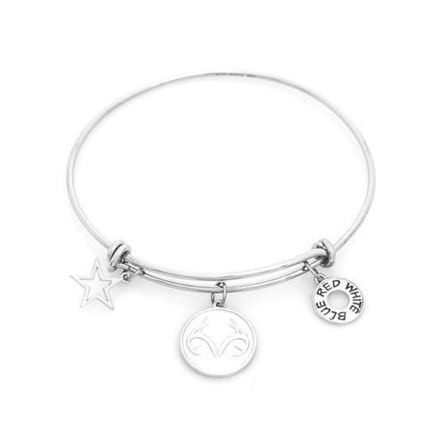 Realtree Patriotic Antler Charm Bangle Bracelet