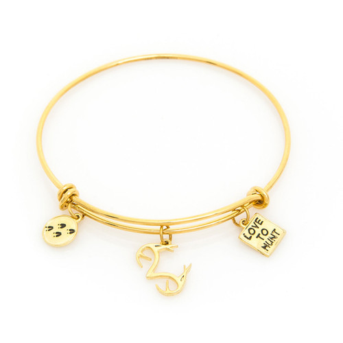 Realtree Love to Hunt Charm Bangle Bracelet