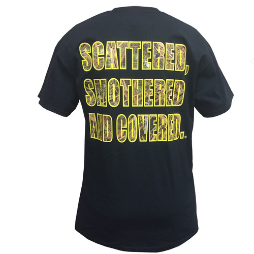 Waffle House Max-5 Scattered, Smothered and Covered T-Shirt in Black