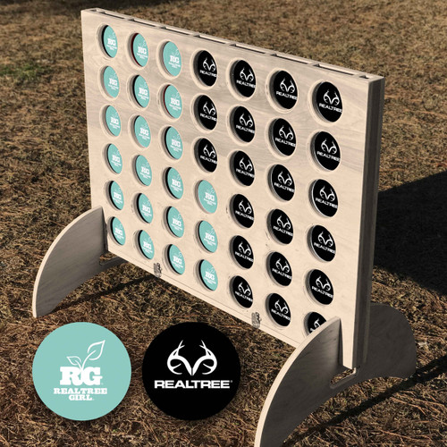 Realtree Giant Connect Four Lawn Game