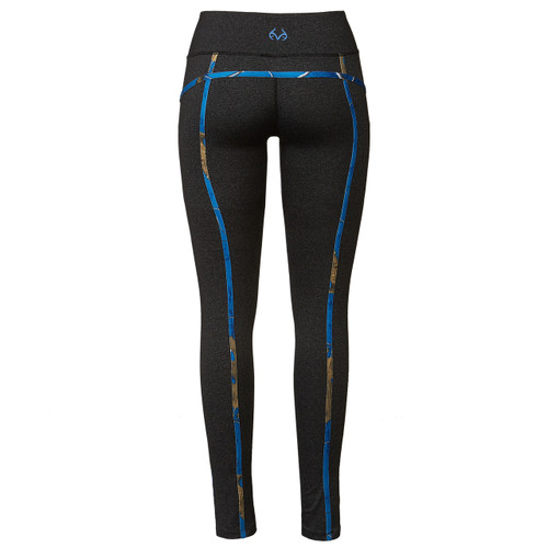 Realtree Women's Blue Camo Active Leggings Back