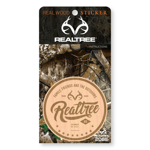 Maple Wood Realtree Logo Sticker