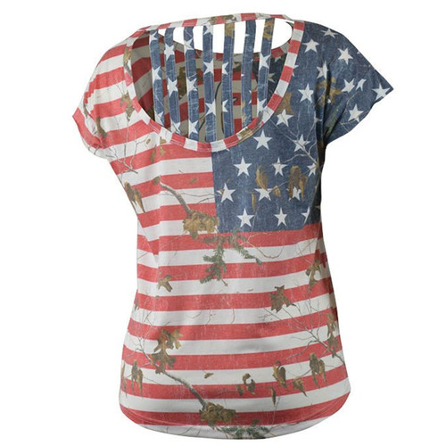 Realtree Women's Camo Independence Tee Backing