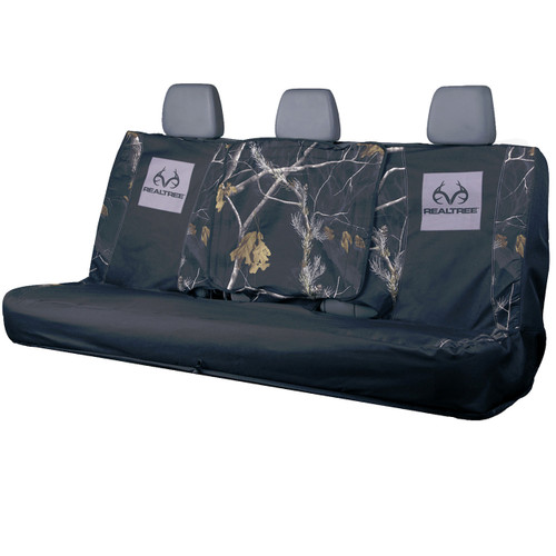 Realtree Switch Back Black Bench Seat Cover Realtree