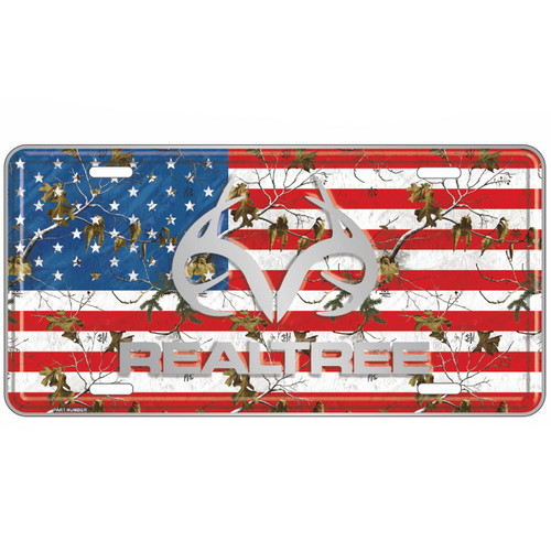 Realtree Patriotic Antler License Plate Realtree Camo