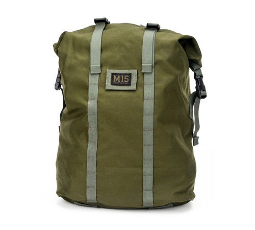 Roll Up Backpack - Olive Drab - Front