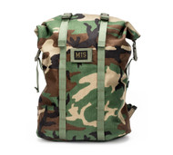 Roll Up Backpack - Woodland Camo - Front