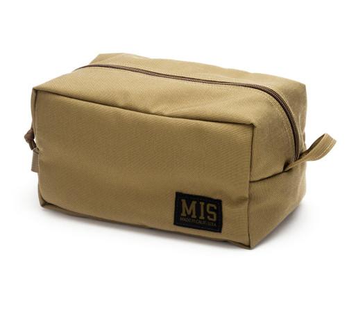 Mesh Toiletry Bag - Coyote Tan - Front