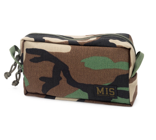 Slim Mesh Toiletry Bag - Woodland Camo - Front