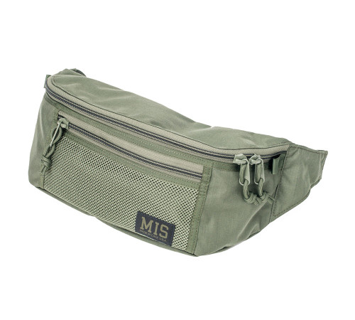 Mesh Waist Bag - Camo Green - Front
