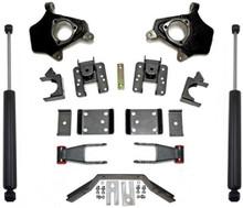 "2014-2016 Chevy Silverado 1500 2wd/4wd (2pc Drive Shaft) 2/4"" Lowering Kit - MaxTrac KS331524LB"