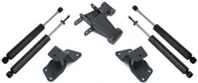 "1999-2006 GMC Sierra 1500 2wd 4"" Hanger And Shackle Lowering Kit W/ Front And Rear MaxTrac Shocks - MaxTrac 200940"