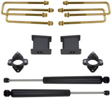 "2007-2015 Chevy Silverado 1500 2wd 3"" Front/4"" Rear Lift Kit W/ MaxTrac Rear Shocks - MaxTrac 901340"
