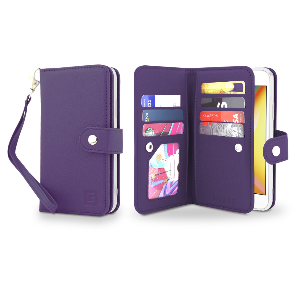 the best attitude 663cd 5c9b5 Dual Folio Smartphone Wallet Case w RFID & Screen Protector for Samsung  Galaxy S9 & Galaxy S9 Plus