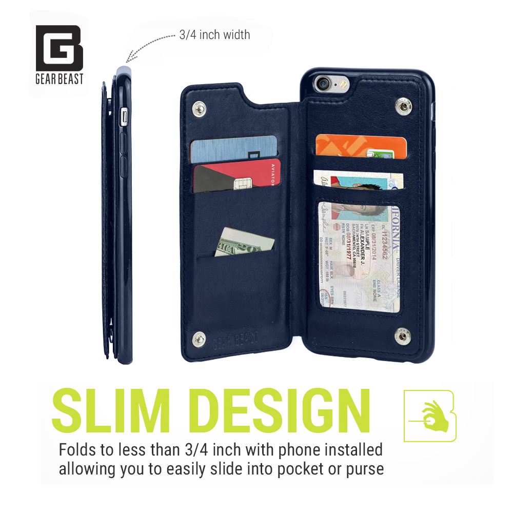 free shipping 686b6 f4856 TopView Smartphone Wallet Case for Apple iPhone 8 Plus and 7 Plus
