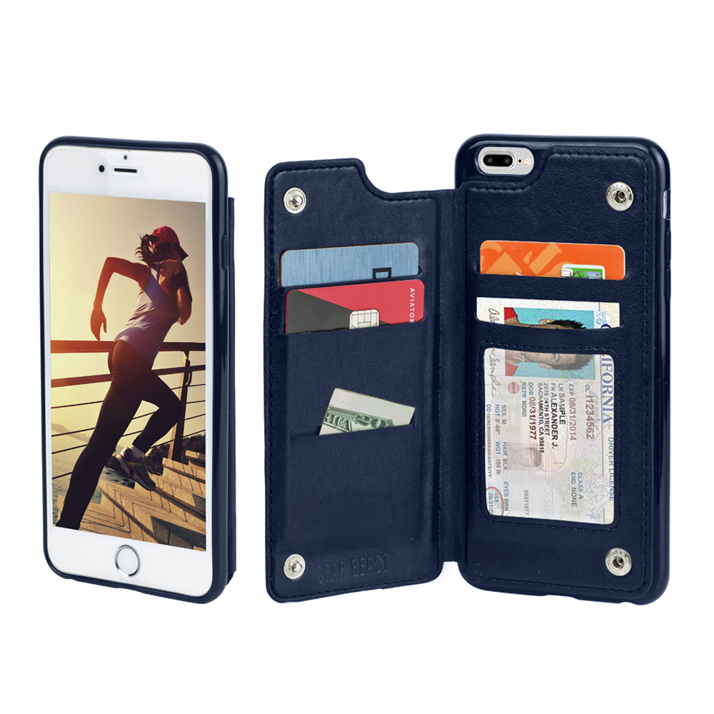 topview smartphone wallet case for apple iphone 8 and iphone 7