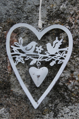 small delicate hanging heart