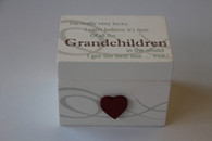 "Mini Wooden ""Grandchildren"" Trinket Box"