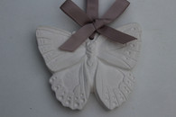 fresh cotton scented hanging white butterfly