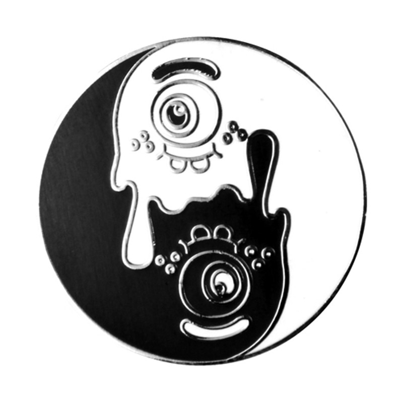 Yin Yang Enamel Pin