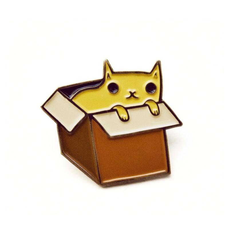 Box Cat Enamel Pin