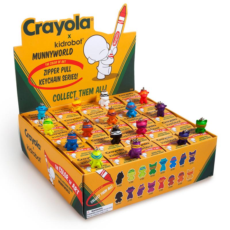 Crayola Munny Zipperpulls : Case of 25